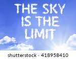 the sky is the limit cloud word ... | Shutterstock . vector #418958410