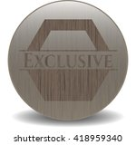 exclusive retro style wood... | Shutterstock .eps vector #418959340