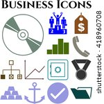 business icon set. 13 icons... | Shutterstock .eps vector #418960708
