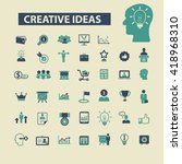 creative ideas icons  | Shutterstock .eps vector #418968310