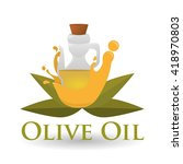 olive oil design. orgnic...   Shutterstock .eps vector #418970803