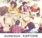 diverse group people working...   Shutterstock . vector #418972408