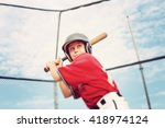 young baseball player batting | Shutterstock . vector #418974124
