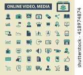 online video  media icons  | Shutterstock .eps vector #418974874