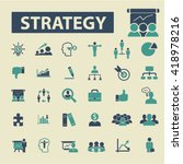 strategy icons  | Shutterstock .eps vector #418978216