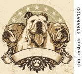 Bulldog Crest Design. Vector...