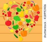 vector love sign of vegetable....   Shutterstock .eps vector #418992406
