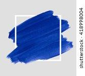logo art brush paint vector.... | Shutterstock .eps vector #418998004
