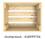 Empty Wooden Crate. Top View....