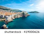 panorama of old town of... | Shutterstock . vector #419000626