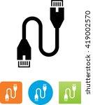 Cat 5 Ethernet Cable Symbol.
