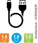 looping cable with usb and... | Shutterstock .eps vector #419002639