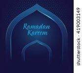 vector stock of ramadan kareem... | Shutterstock .eps vector #419003149