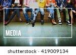 media multimedia digital... | Shutterstock . vector #419009134