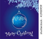 merry christmas card | Shutterstock .eps vector #41900959