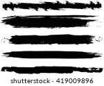 set of grunge brush strokes | Shutterstock .eps vector #419009896