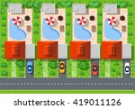 top view of houses | Shutterstock . vector #419011126