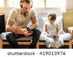family father daughter love... | Shutterstock . vector #419013976
