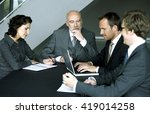 business people working in a... | Shutterstock . vector #419014258