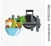 healthy lifestyle.fitness... | Shutterstock .eps vector #419015368