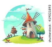 vector cartoon illustration  ... | Shutterstock .eps vector #419021893