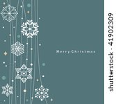 vector set of snowflakes... | Shutterstock .eps vector #41902309