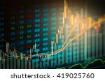 financial analysis data on...   Shutterstock . vector #419025760