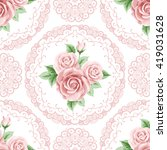 vintage seamless pattern with...   Shutterstock . vector #419031628