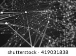 abstract polygonal space low... | Shutterstock . vector #419031838