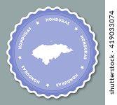 honduras sticker flat design.... | Shutterstock .eps vector #419033074