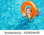 woman enjoy relaxing in the... | Shutterstock . vector #419034439