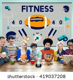 league sport fitness exercise... | Shutterstock . vector #419037208