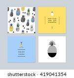 set of creative trendy art... | Shutterstock .eps vector #419041354