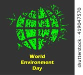 world environment day | Shutterstock .eps vector #419047570