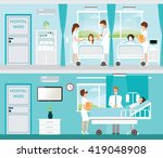 doctor and patient in hospital... | Shutterstock .eps vector #419048908