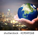 the world is on hold for the... | Shutterstock . vector #419049268