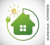green home concept | Shutterstock .eps vector #419050858