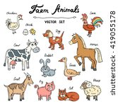 vector set with hand drawn... | Shutterstock .eps vector #419055178