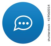 speech icon design on blue...