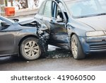 car crash accident on street   Shutterstock . vector #419060500