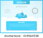 certificate template for... | Shutterstock . vector #419064538