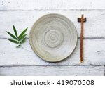 ceramic dish  plate  and... | Shutterstock . vector #419070508