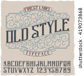 finest label old style typeface ... | Shutterstock .eps vector #419073868