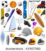 big set of sport objects   Shutterstock .eps vector #41907580