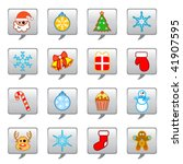 christmas icon set | Shutterstock .eps vector #41907595