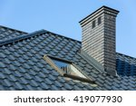 roof of a detached house with a ... | Shutterstock . vector #419077930
