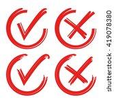 check box  check mark  wrong... | Shutterstock .eps vector #419078380