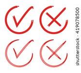 check box  check mark  wrong... | Shutterstock .eps vector #419078500