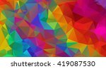 multicolored polygons texture ... | Shutterstock .eps vector #419087530
