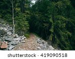 road trek into the mountains... | Shutterstock . vector #419090518